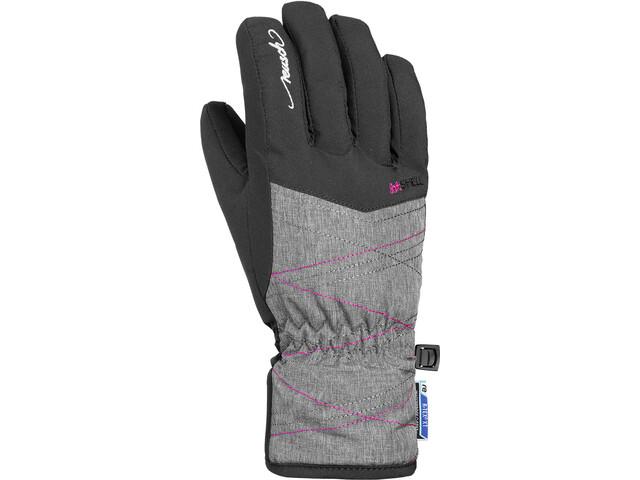 Reusch Aimée R-TEX XT Rękawiczki Młodzież, black/grey melange/pink glo